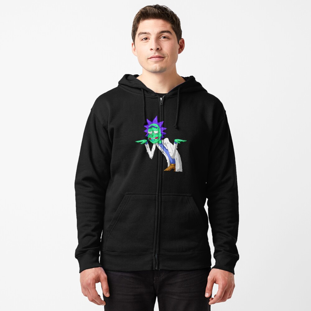 Copy of rick and morty get schwifty Zipped Hoodie
