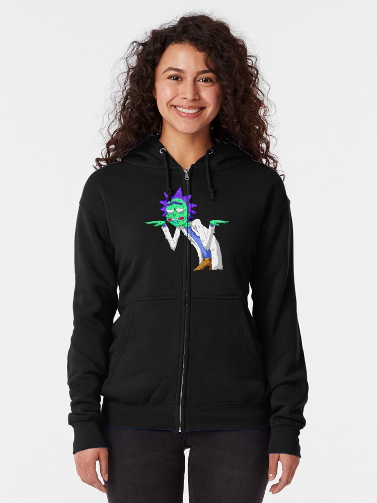 Alternate view of Copy of rick and morty get schwifty Zipped Hoodie