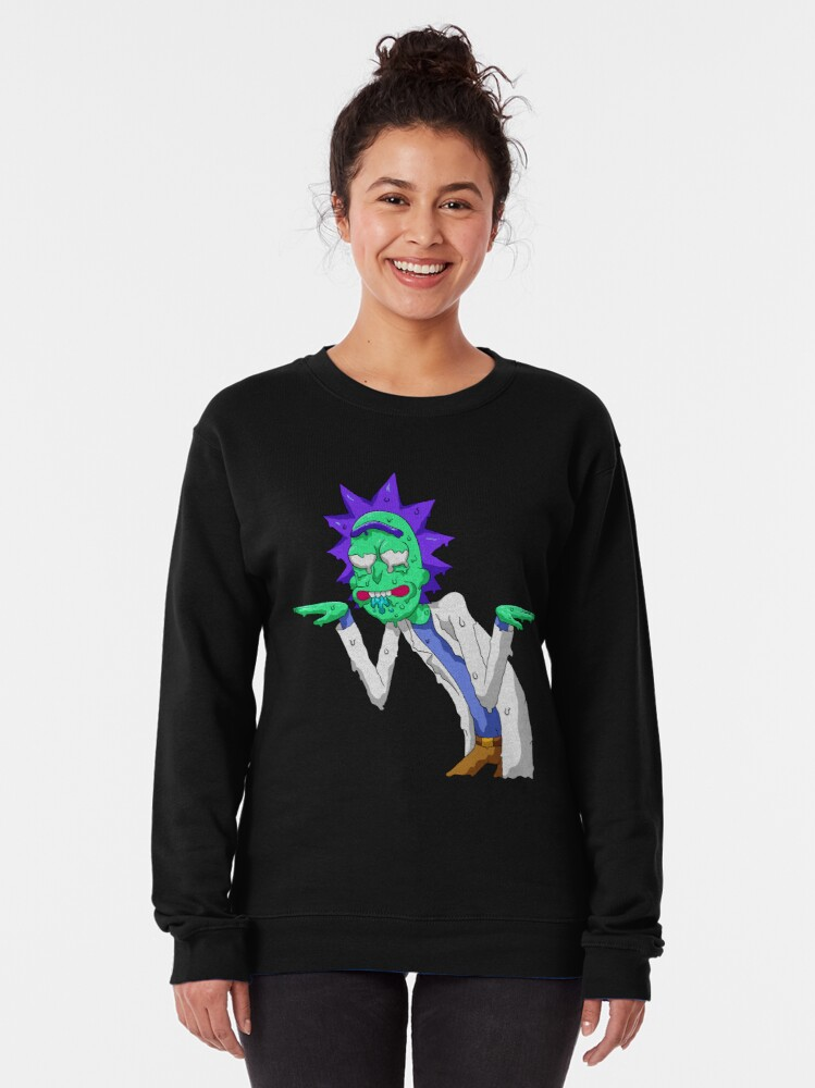 Alternate view of Copy of rick and morty get schwifty Pullover Sweatshirt