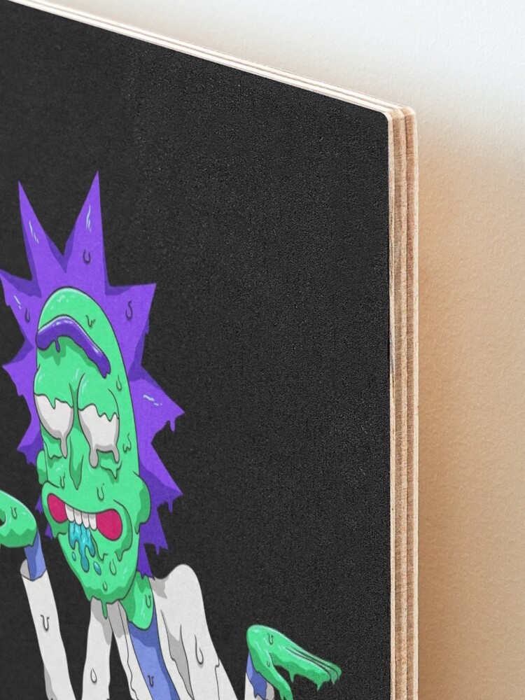 Alternate view of Copy of rick and morty get schwifty Mounted Print