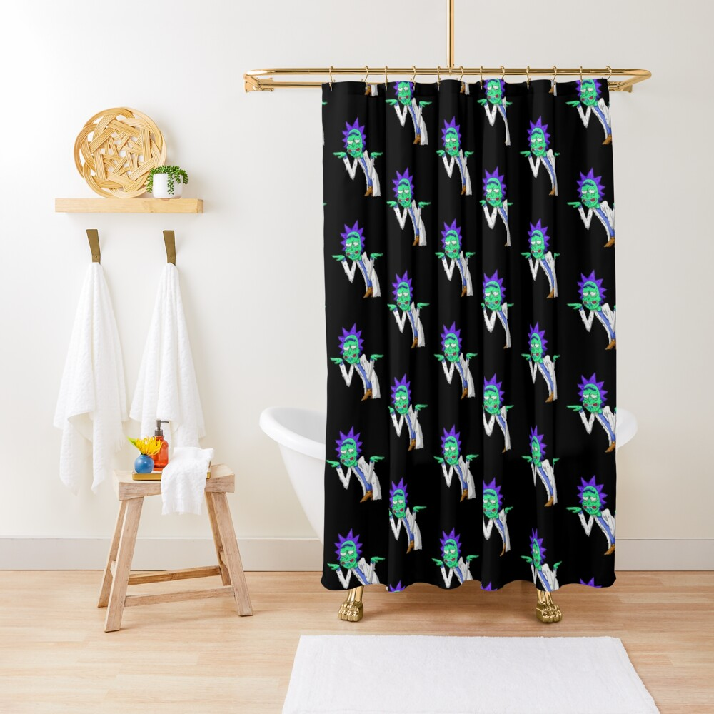 Copy of rick and morty get schwifty Shower Curtain