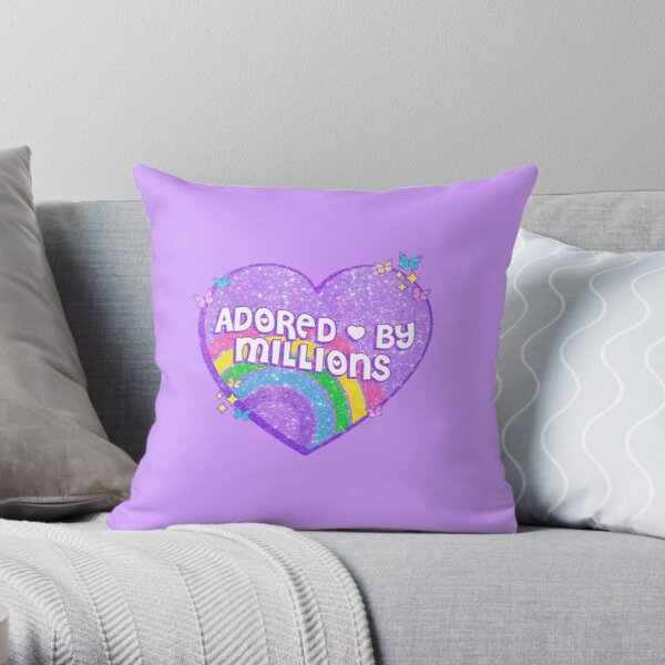 ADORED BY MILLIONS Throw Pillow