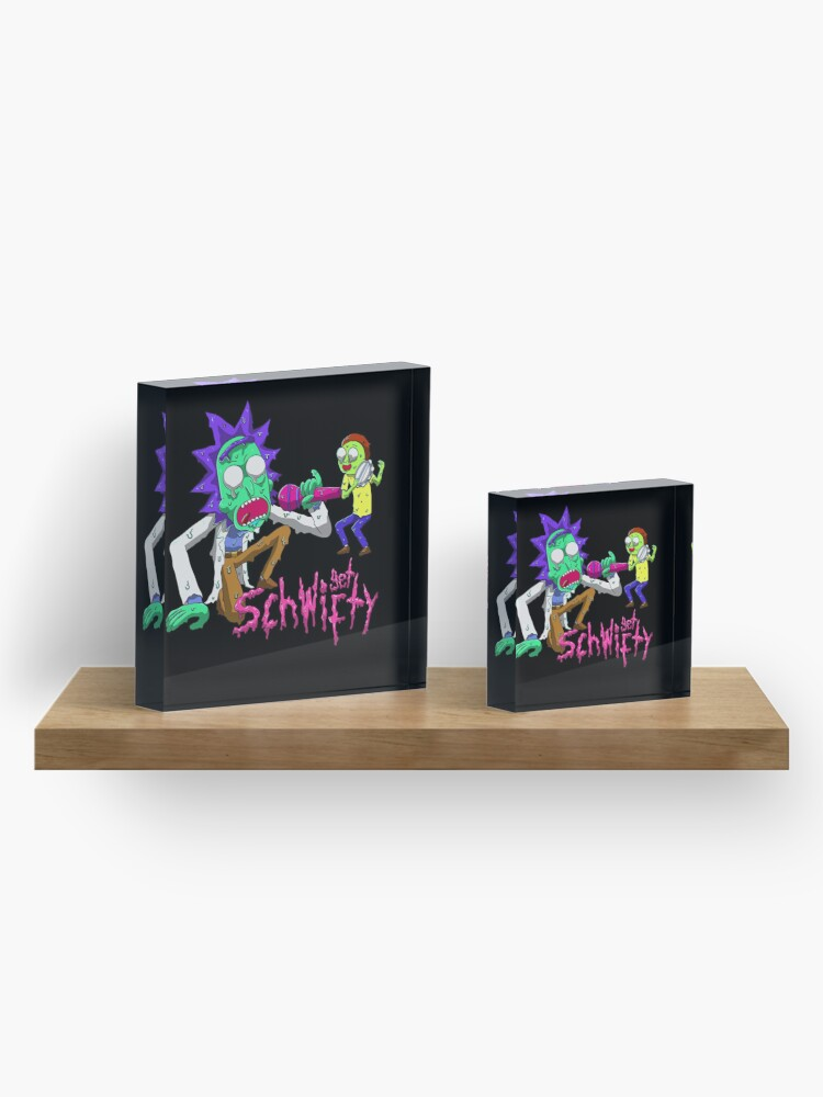Alternate view of rick and morty get schwifty Acrylic Block