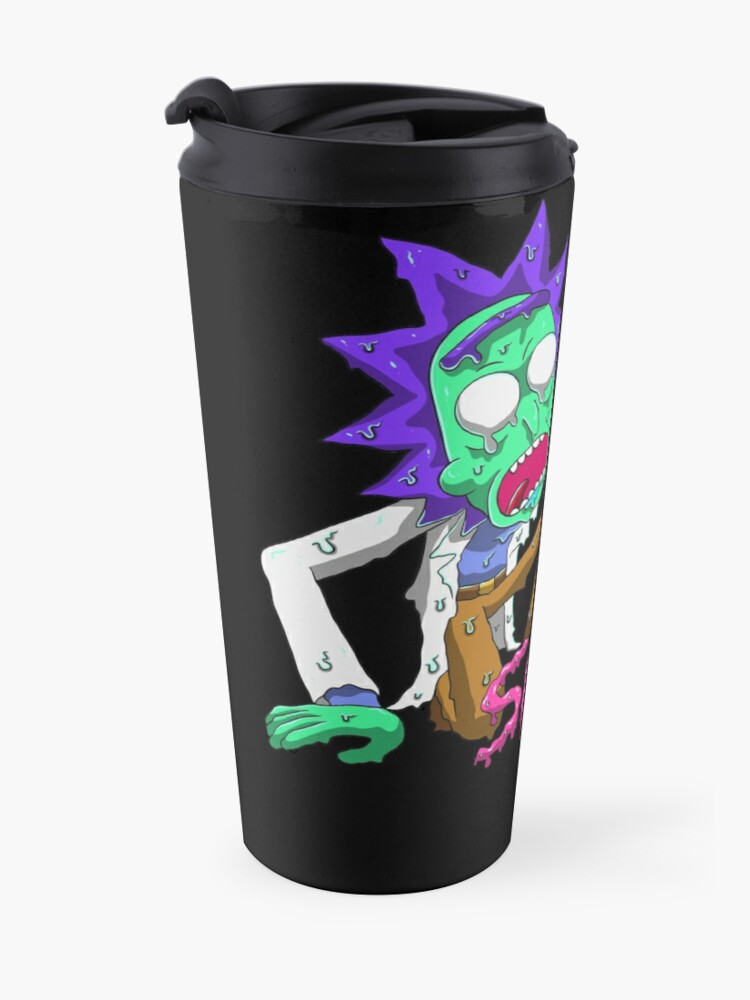 Alternate view of rick and morty get schwifty Travel Mug