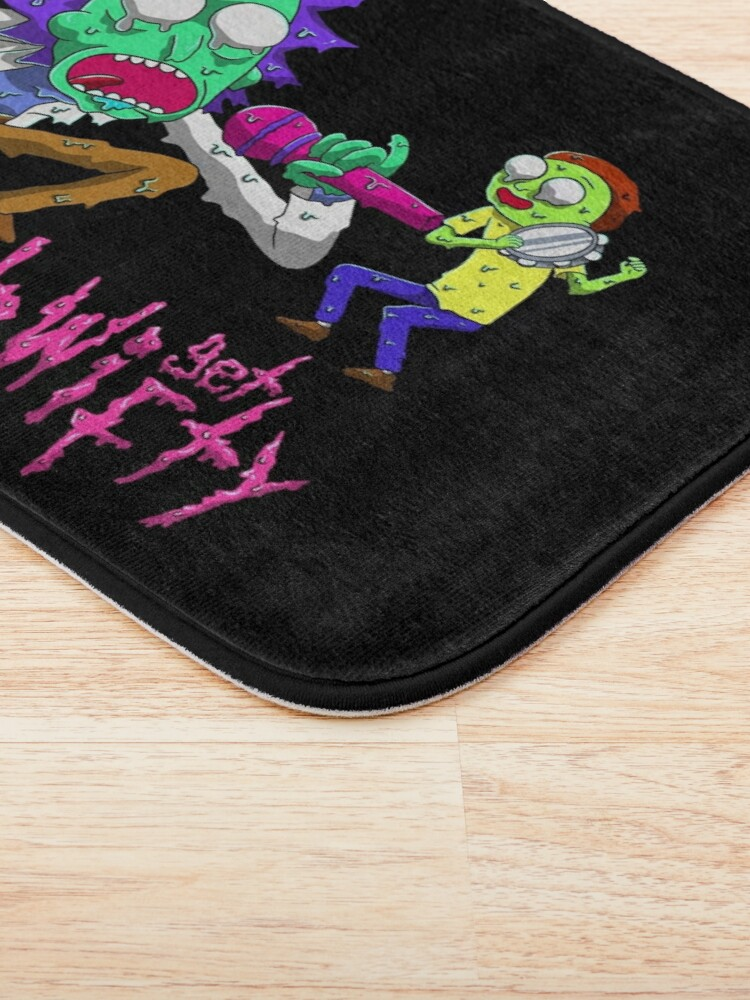 Alternate view of rick and morty get schwifty Bath Mat