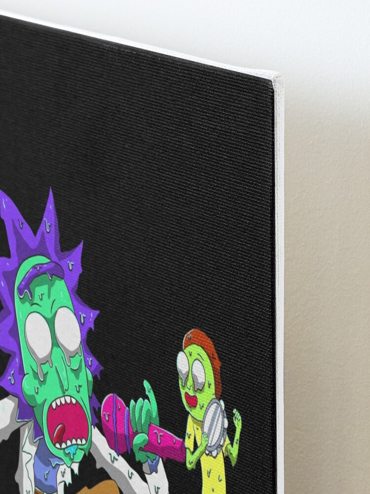 Alternate view of rick and morty get schwifty Mounted Print