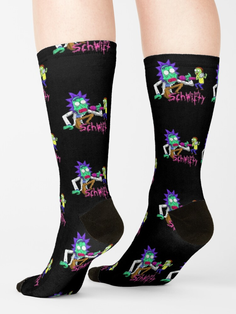 Alternate view of rick and morty get schwifty Socks