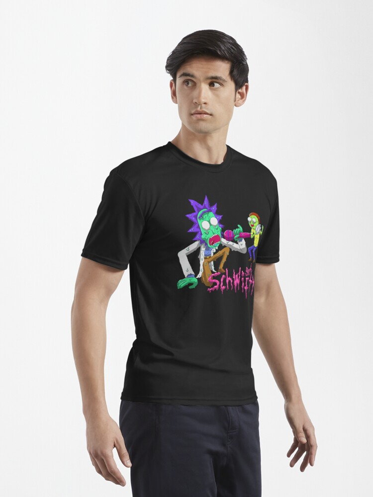 Alternate view of rick and morty get schwifty Active T-Shirt