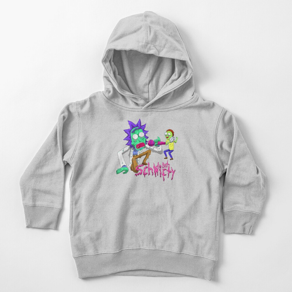 rick and morty get schwifty Toddler Pullover Hoodie