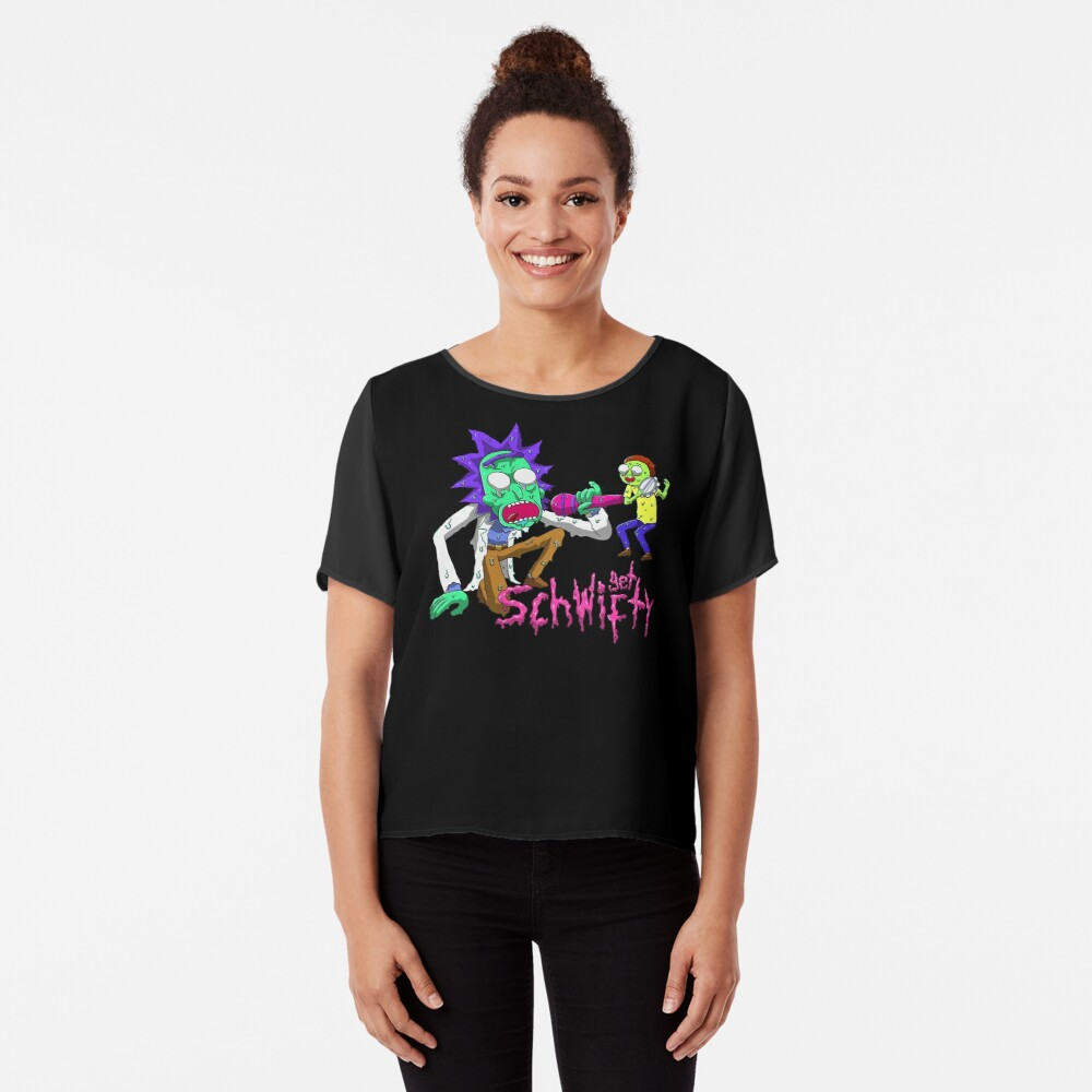 rick and morty get schwifty Chiffon Top