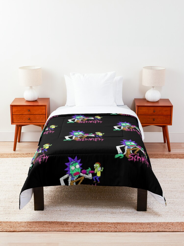 Alternate view of rick and morty get schwifty Comforter