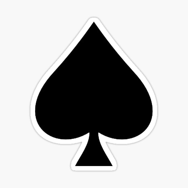 ACE. Ace of Spades, Black, Music, Motorbike, Hells Angels, Gang, Gamble, Cards, Black on White. Sticker