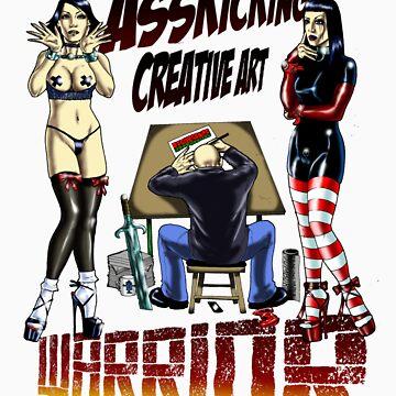 Asskicking creative art warrior by filthyweedog