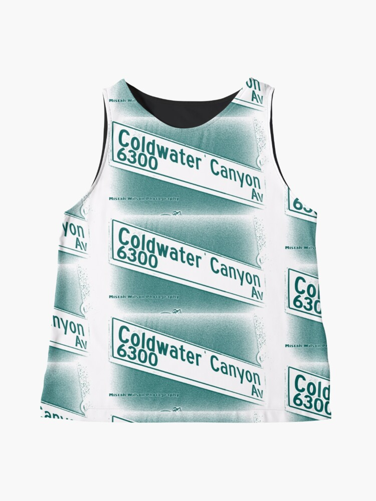 Alternate view of Coldwater Canyon Avenue, SFV, Los Angeles WATERY by Mistah Wilson Sleeveless Top