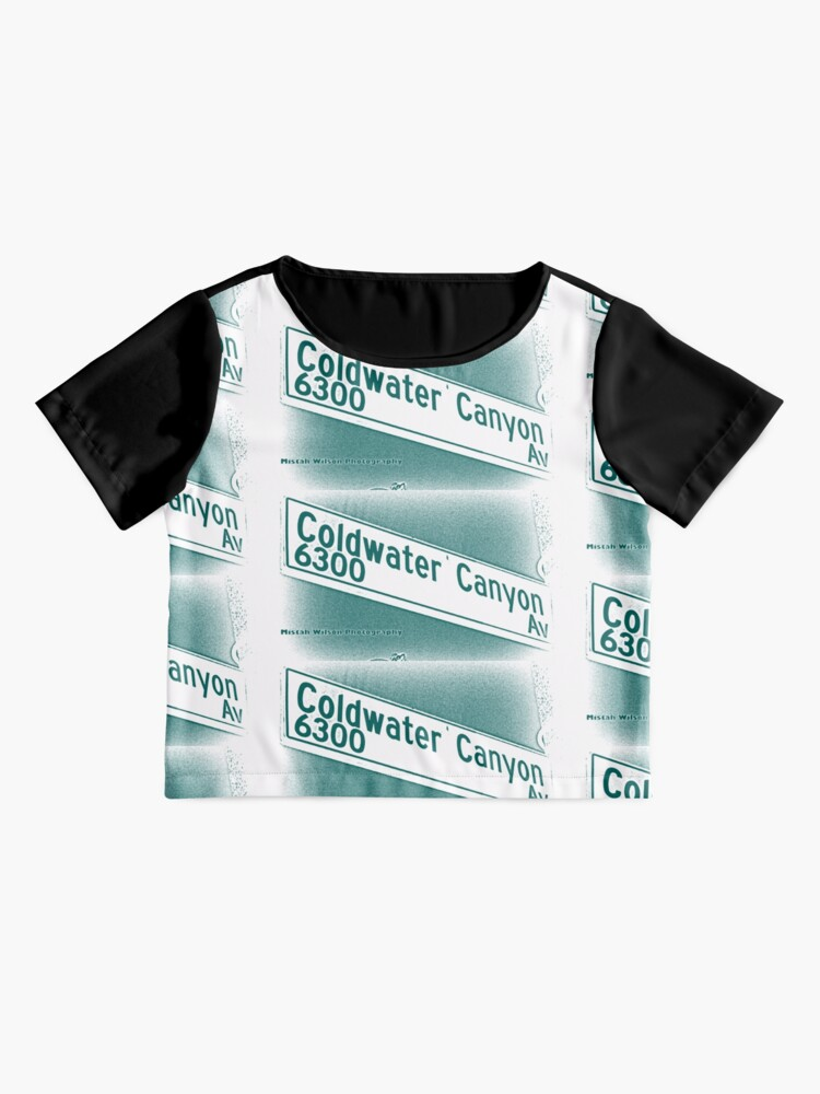 Alternate view of Coldwater Canyon Avenue, SFV, Los Angeles WATERY by Mistah Wilson Chiffon Top