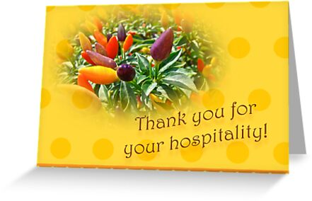 how to say thank you for your hospitality