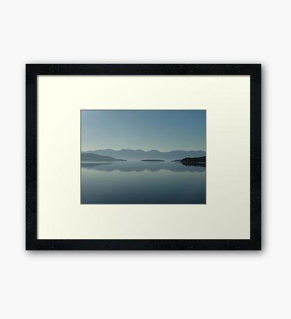 MAGIC MORNING ON FLATHEAD LAKE, MT Framed Print