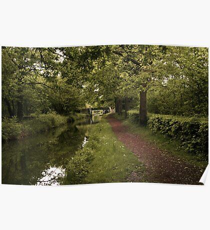 Canal at Rheola Poster