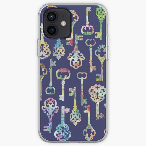 Rainbow Skeleton Keys Pattern iPhone Soft Case