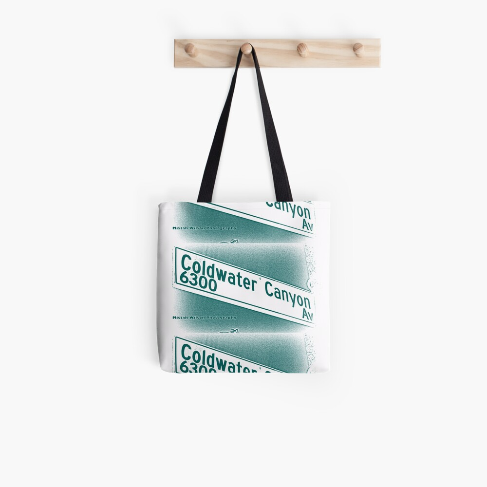 Coldwater Canyon Avenue, SFV, Los Angeles WATERY by Mistah Wilson Tote Bag
