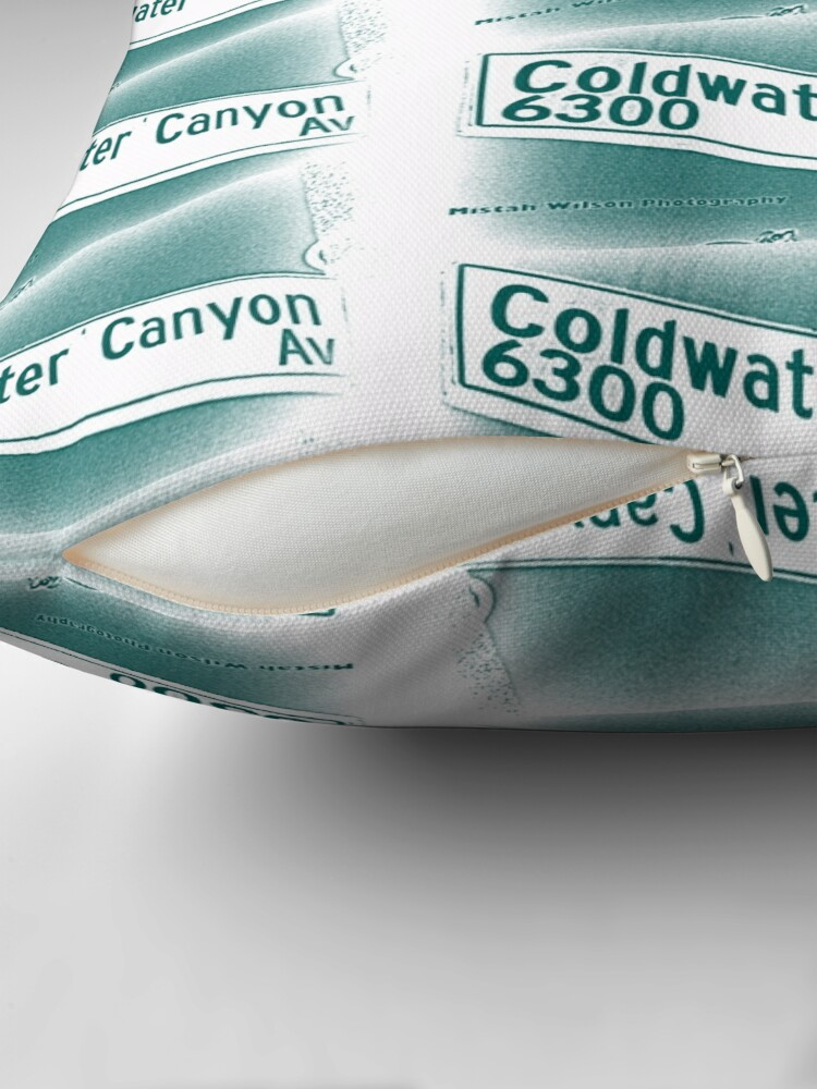 Alternate view of Coldwater Canyon Avenue, SFV, Los Angeles WATERY by Mistah Wilson Floor Pillow