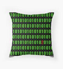 Digital nightmare Throw Pillow