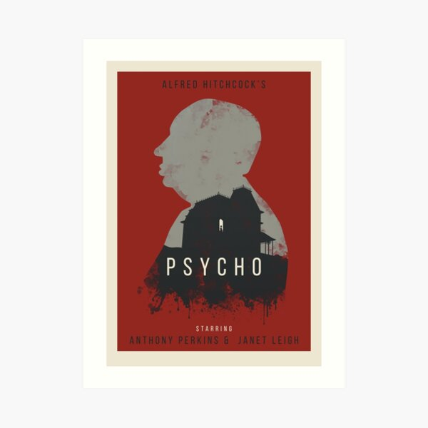 Alfred Hitchcock Psycho  Art Print