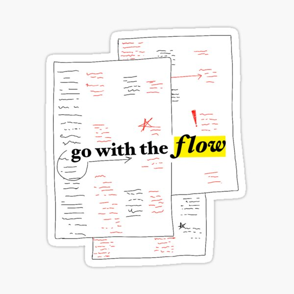 go with the flow sticker Sticker