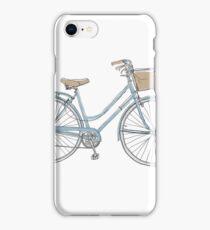 vintage bicycle  cute art iPhone Case/Skin