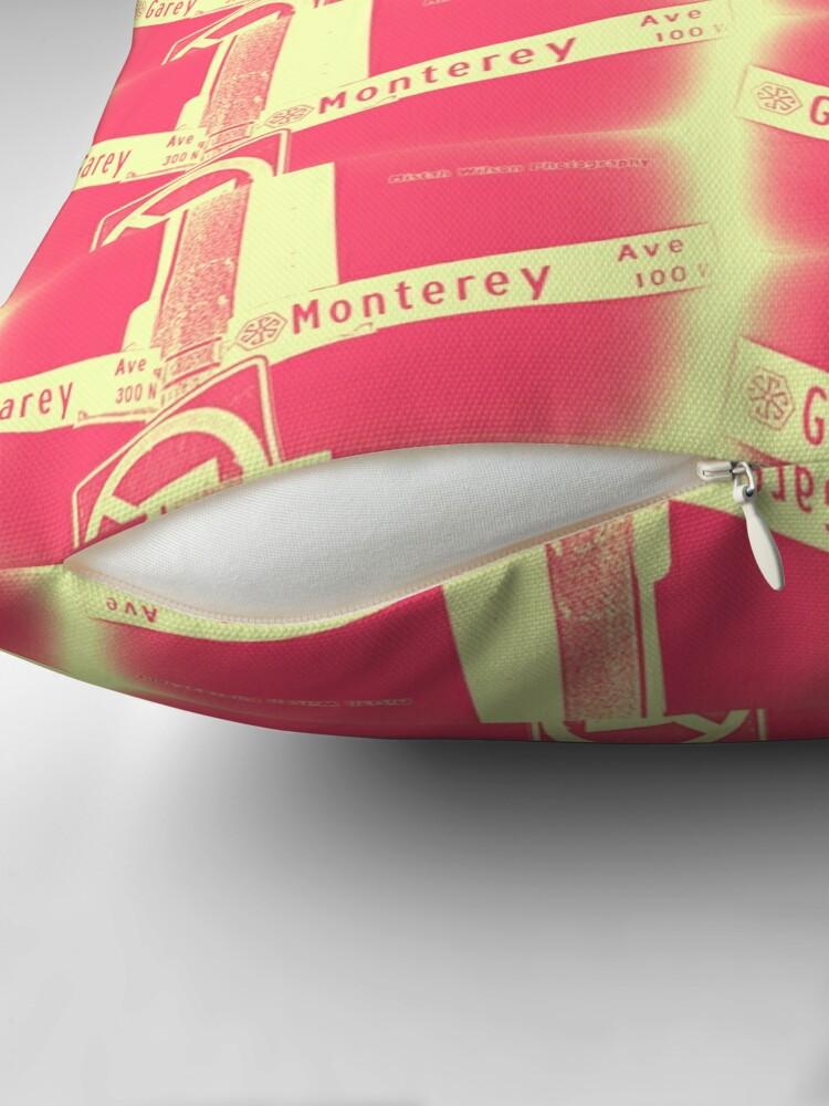 Alternate view of Garey Avenue & Monterey Avenue, Pomona, CA Cream Berry by Mistah Wilson Floor Pillow