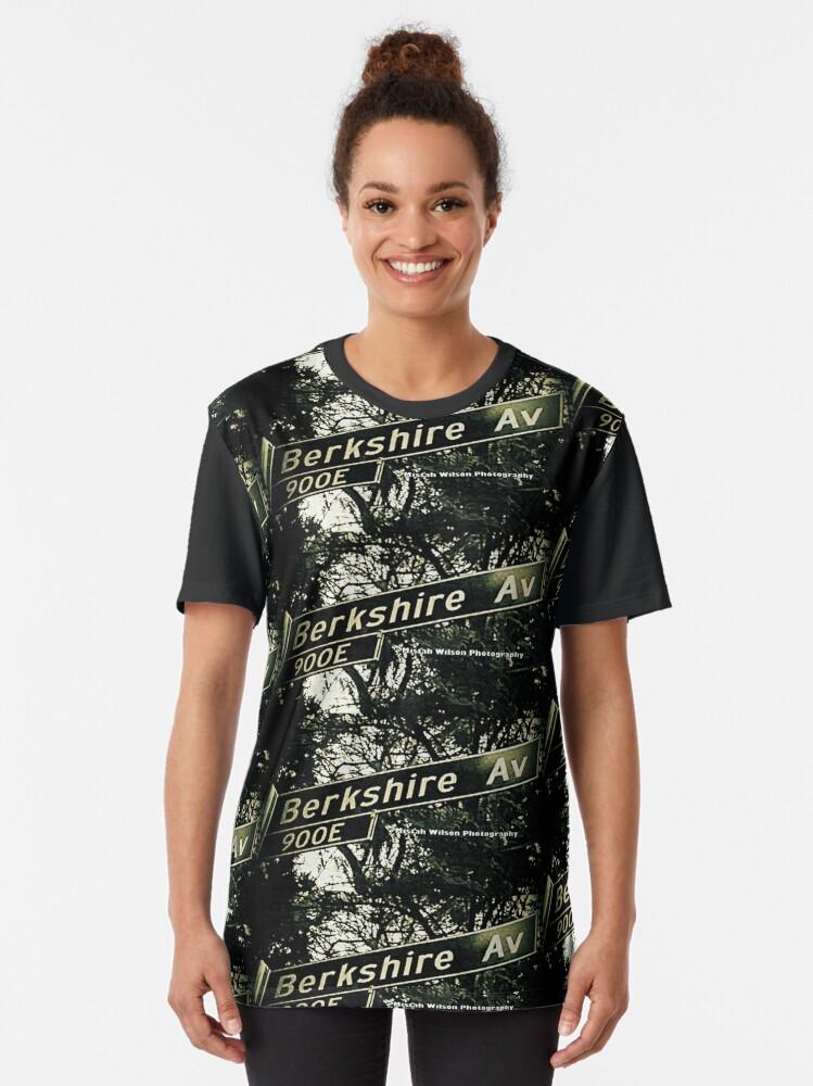 Alternate view of Berkshire Avenue, La Cañada Flintridge, CA by Mistah Wilson Graphic T-Shirt