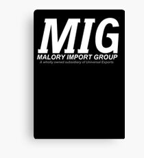 M I G Reverse Canvas Print
