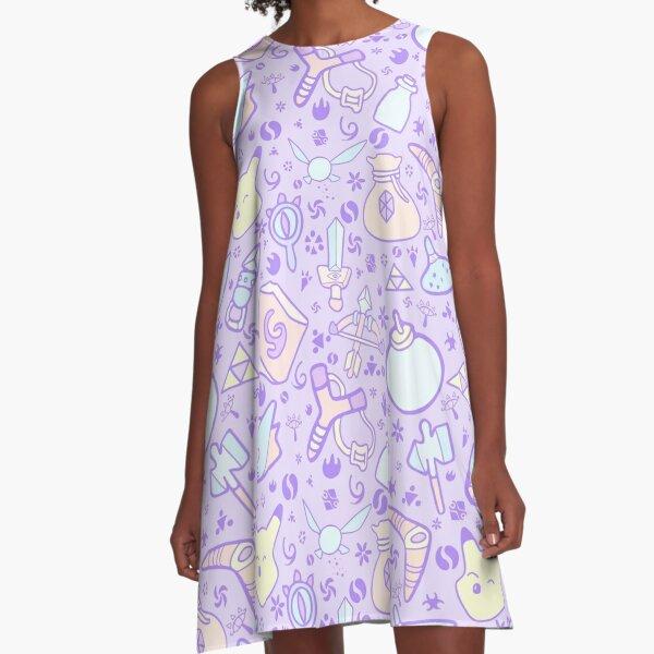 Zelda Doodlez (Purple Pastel ver.) A-Line Dress