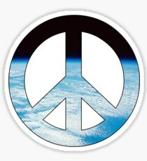 Peace - space. Sticker