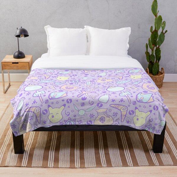 Zelda Doodlez (Purple Pastel ver.) Throw Blanket