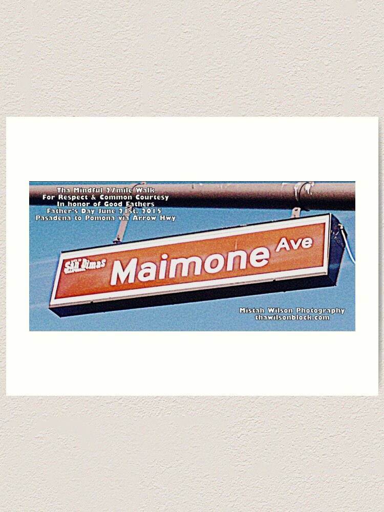 Alternate view of Maimone Avenue, San Dimas, CA by Mistah Wilson Art Print