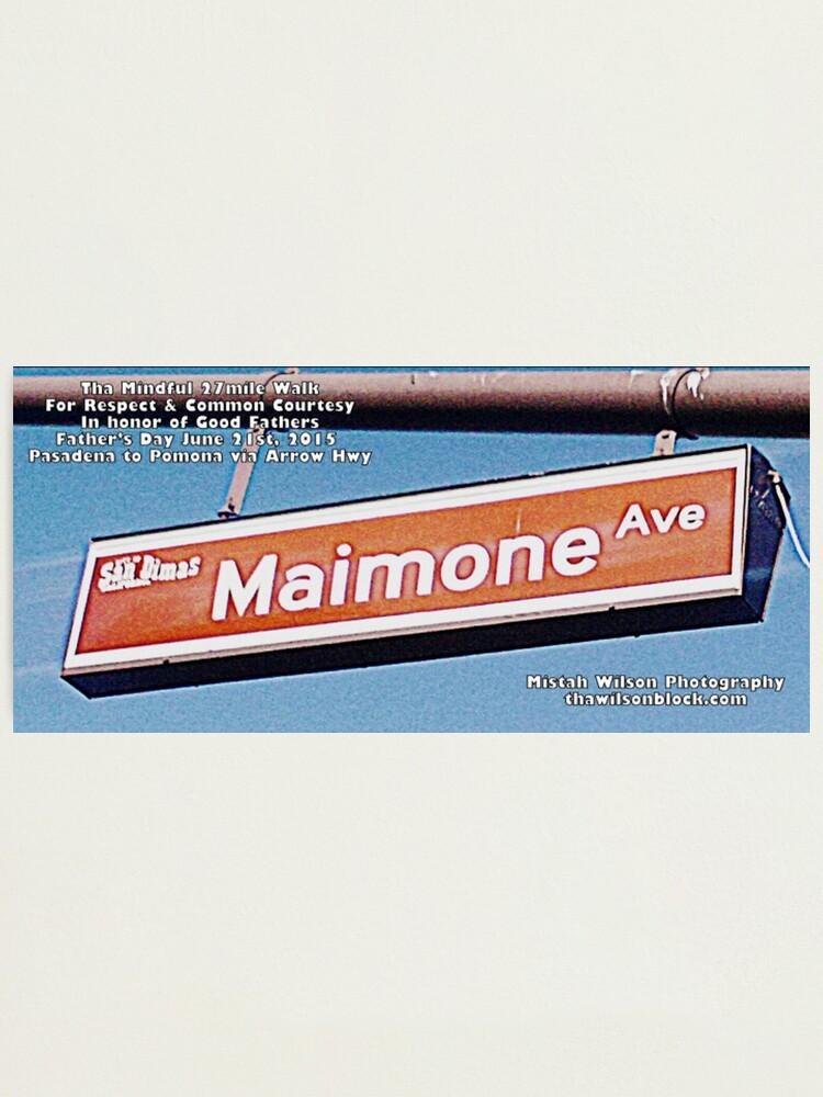 Alternate view of Maimone Avenue, San Dimas, CA by Mistah Wilson Photographic Print