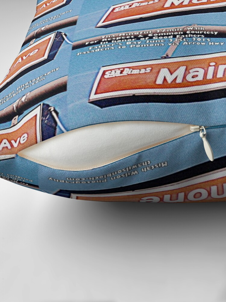 Alternate view of Maimone Avenue, San Dimas, CA by Mistah Wilson Throw Pillow