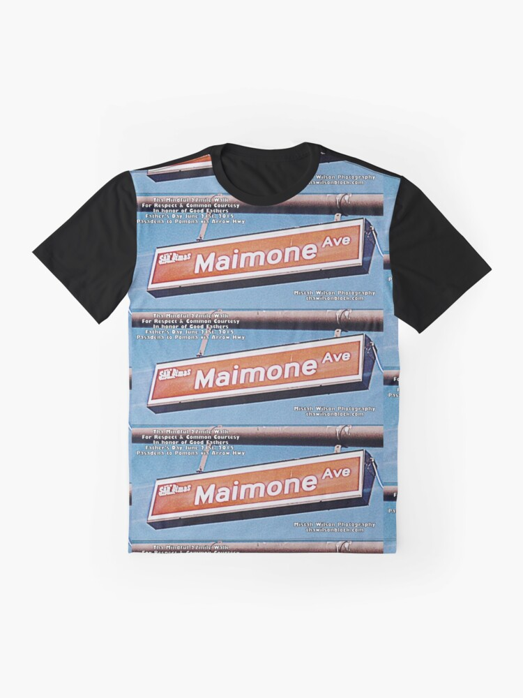 Alternate view of Maimone Avenue, San Dimas, CA by Mistah Wilson Graphic T-Shirt