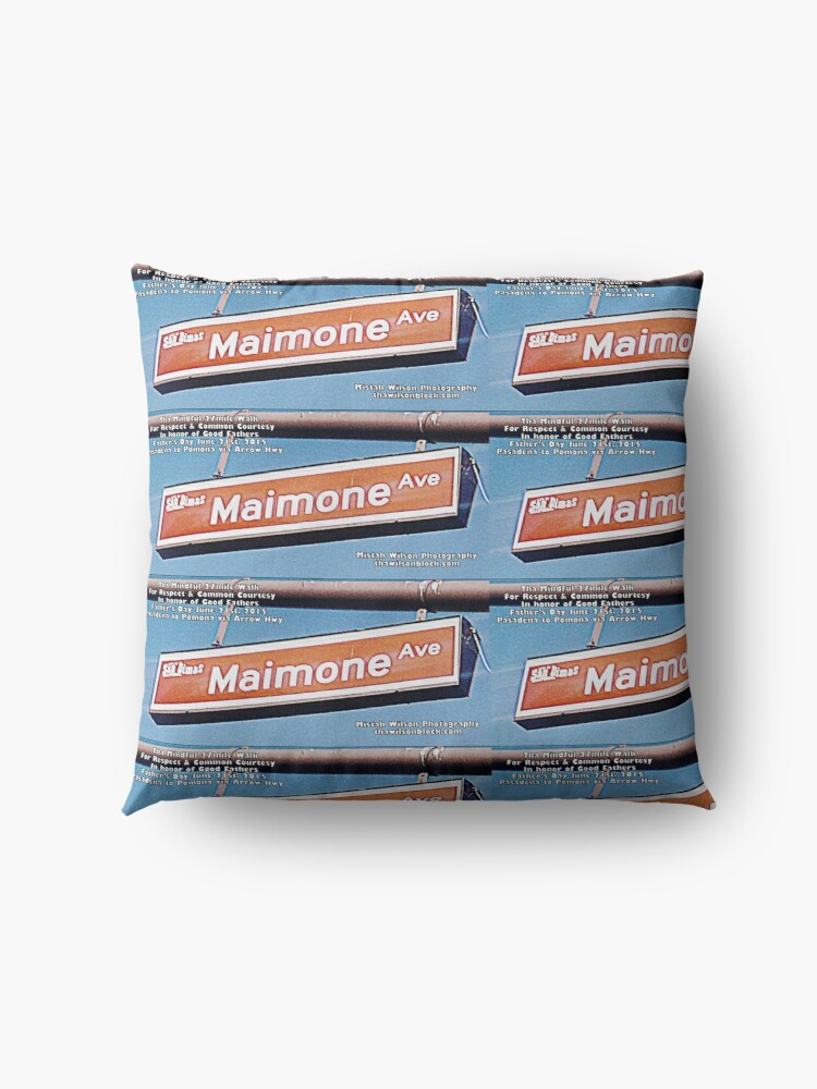 Alternate view of Maimone Avenue, San Dimas, CA by Mistah Wilson Floor Pillow