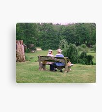 Re-enactors ar Ringwood Manor - Colonial women resting and chatting Canvas Print