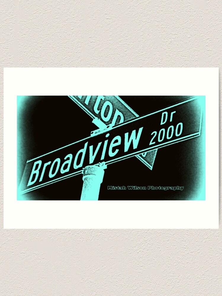Alternate view of Broadview Drive, Glendale, CA by Mistah Wilson Art Print