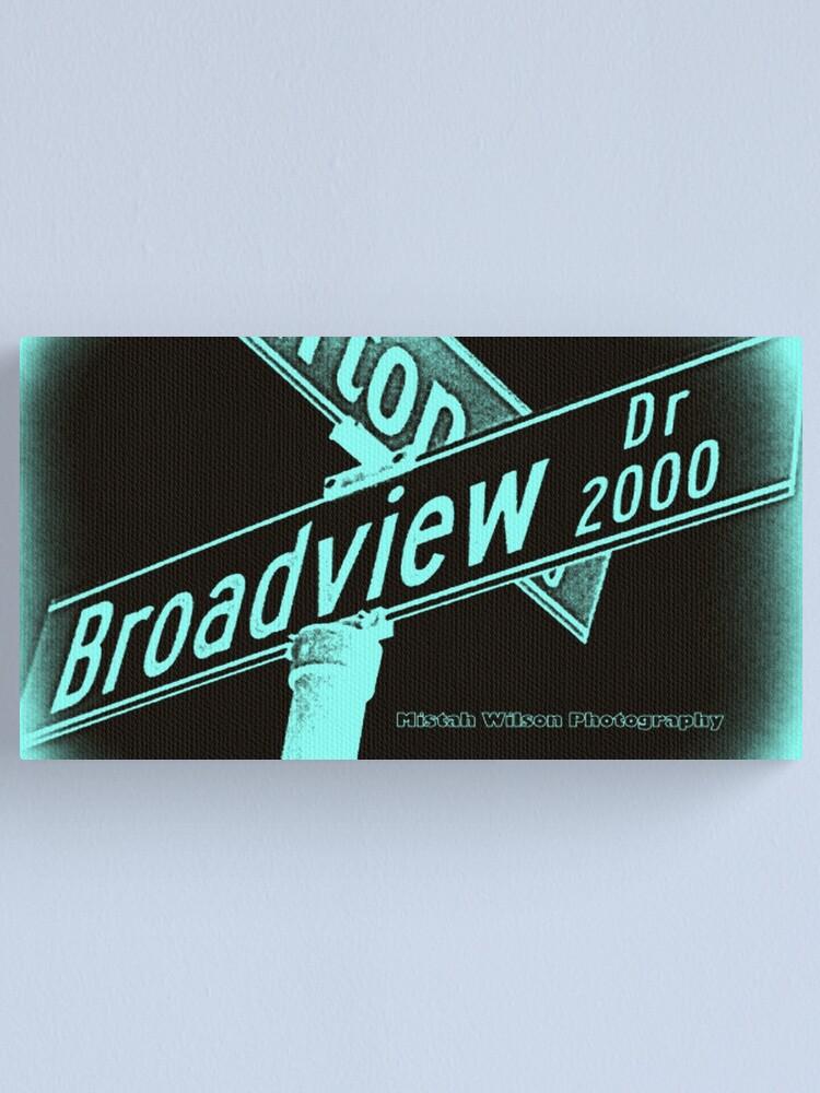 Alternate view of Broadview Drive, Glendale, CA by Mistah Wilson Canvas Print