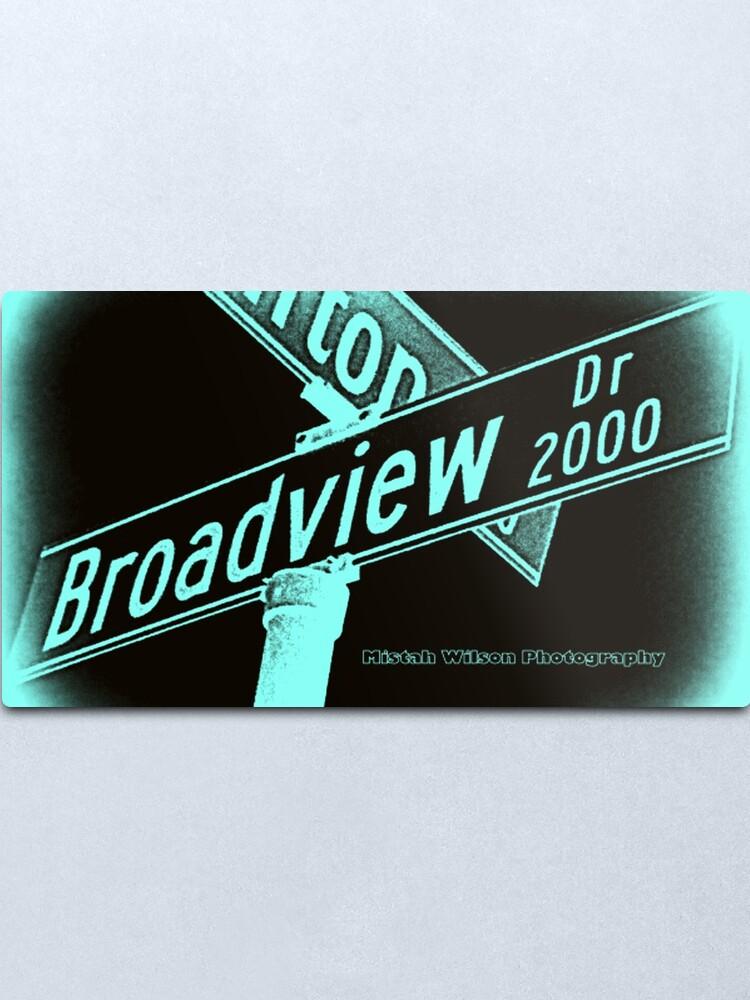 Alternate view of Broadview Drive, Glendale, CA by Mistah Wilson Metal Print