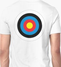 Bulls Eye, Archery, Target, Roundel, Shooting, Hit, Mod, on White T-Shirt