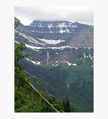 HEAVEN PEAK AND BIRD WOMAN FALLS - GLACIER NATIONAL PARK Photographic Print