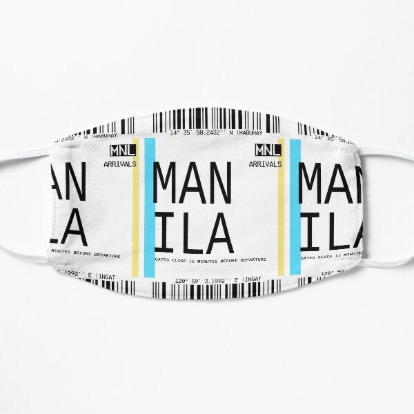 MANILA PLANE TICKET PHONE CASE FILIPINO Flat Mask