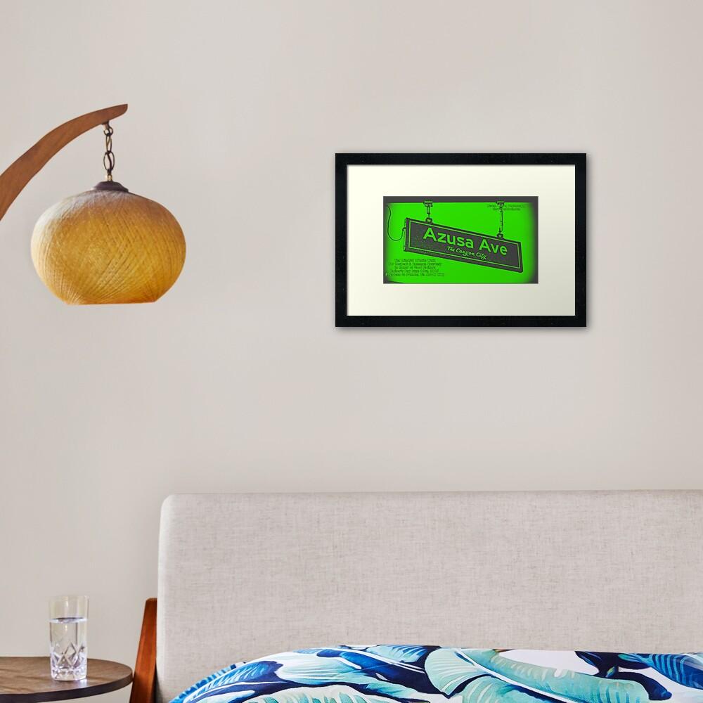 Azusa Avenue, Azusa, CA by Mistah Wilson Framed Art Print