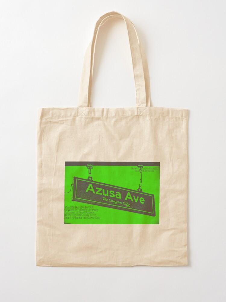 Alternate view of Azusa Avenue, Azusa, CA by Mistah Wilson Tote Bag