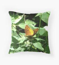 Great Spangled Fritillary Pair Throw Pillow
